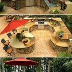 Elegant and Traditional Outdoor Kitchen Outdoor Kitchen Design Idea #Contest #Ou...