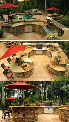 Elegant and Traditional Outdoor Kitchen Outdoor Kitchen Design Idea #Contest #Ou…