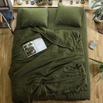 Emerald. 3-Piece linen bedding set. Linen duvet cover and 2 pillowcases. Dark green. Twin, Full, Queen, King, Euro, AU sizes