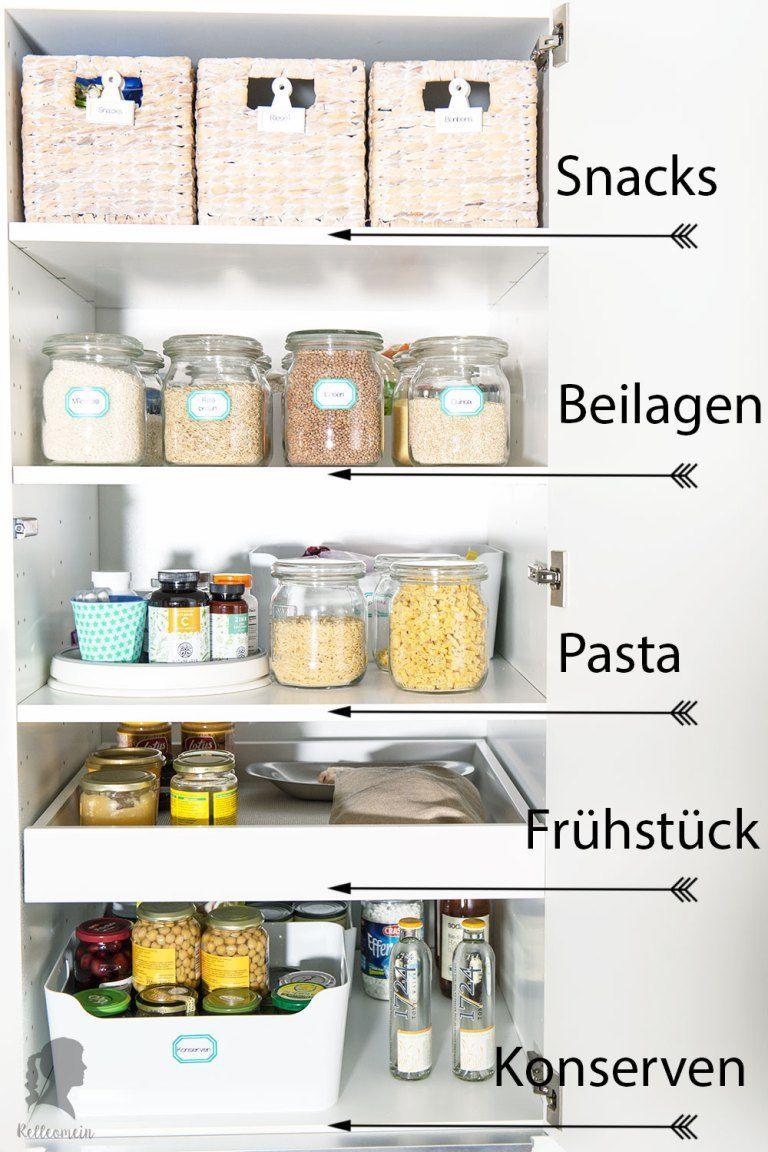 Endlich Ordnung in der Küche – Vorratsschrank aufräumen – Küchenschränke org…