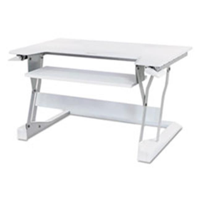 Ergotron 33397062 WorkFit-T Desktop Sit-Stand Workstation, White