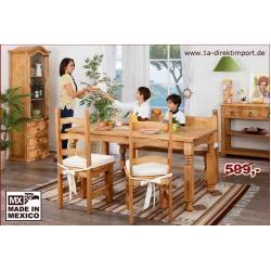 Esstisch im Landhausstil, original mexikanische Möbel, Massivholz 1a direktimpo…