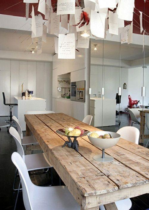 Esstische im Landhausstil mit Stühlen fürs Esszimmer – Wood Design