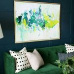 Extra Large Wall Art Abstract Green Painting White Painting Artwork Abstract Painting On Canvas Original Abstract Living Room Wall Art
