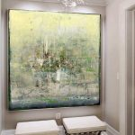 Extra Large Wall Art Abstract Green Painting Yellow Painting Artwork Abstract Painting On Canvas Original Abstract Living Room Wall Art