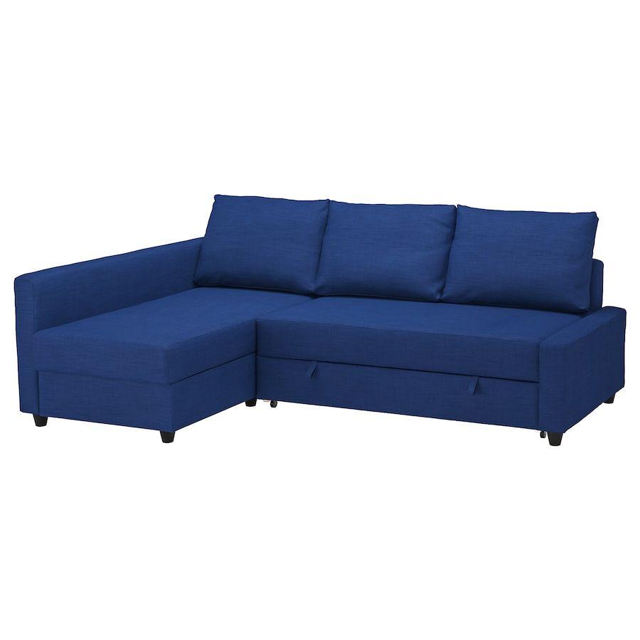 FRIHETEN Sleeper sectional,3 seat w/storage – Skiftebo blue – IKEA