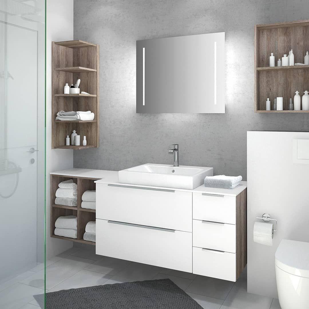 Få det maksimale ud af et lille bad med CREA.plan og spild det #Badezimmermöbe…