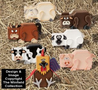 Farm Animal Patio Paver Pals Pattern Set Everyone will love these adorable anima…