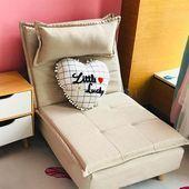 Faules Sofa einzelner Balkon lehnender Stuhl Schlafzimmer Studie faltende Stoff-