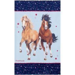 Flachgewebe-Teppich in Blau PferdefreundePferdefreunde