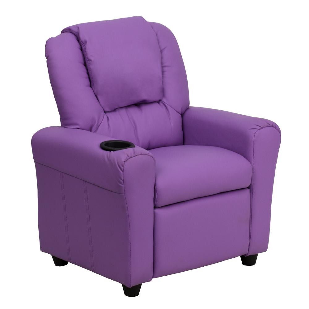 Flash Furniture Contemporary Hot Pink Vinyl Kids Recliner with Cup Holder and Headrest DGULTKIDHOTPK – The Home Depot