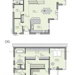 Floor plan Detached house with garage - 6 rooms, 220 sqm living area, pitched roof, ... - Dekoration Trends Site
