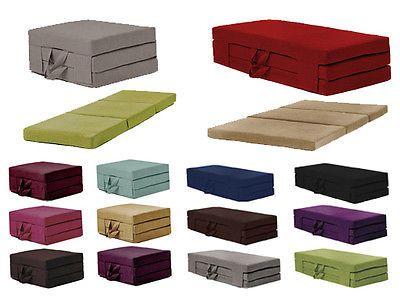 Fold Out Guest Mattress Foam Bed Single & Double Sizes Futon Z bed Folding Sofa  | eBay