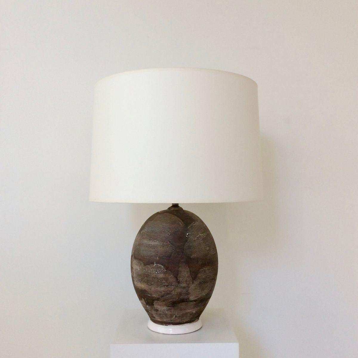 Französische Tischlampe aus Keramik, 1930er – FS INSPIRE