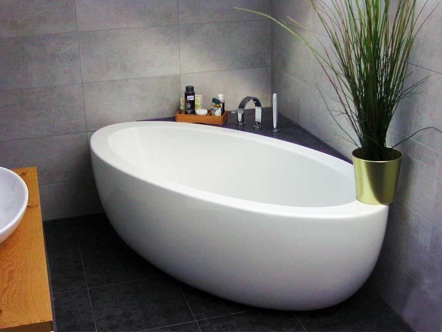 Freistehende Badewanne Cartagena Grande aus Acryl – weiß glänzend