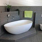 Freistehende Badewanne Luino aus Mineralguss - Weiß glänzend