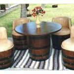 Full Outdoor Wine Barrel Patio Set