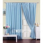 Funky Baby Blue Beautiful Cheap Organic Cotton Printed Curtains