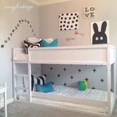 Ganz weißer IKEA Kura für ein graues Kinderzimmer,  #ein #für #ganz #graues #IKEA #Kinderzimm…