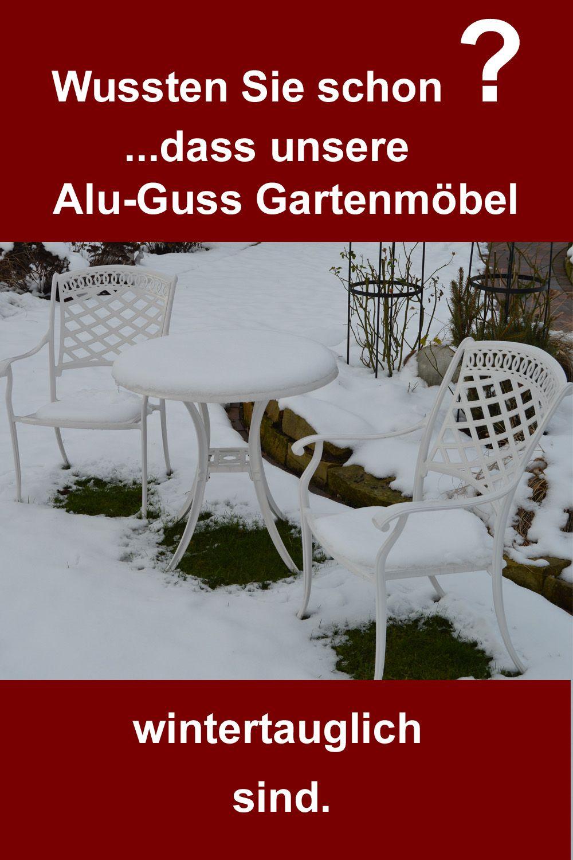 Gartenmöbel aus Alu-Guss sind wetterfest, bequem, stabil, pflegeleicht & Deko für den Garten