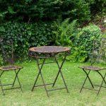 Gartentisch und 2 Stühle Eisen Schmiedeeisen Antik Sti   Gartentisch und 2 ...