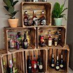 Geflammte Weinkisten, perfekt als Grundlage für die Hausbar / use wooden boxes ...