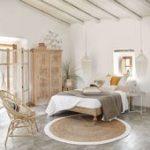 Geflochtener runder Juteteppich mit weißen Konturen Maisons du Monde - #Gefloch...