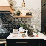 Geometric ombre kitchen tile,  #backsplash #decor #design #home #Ideas #kitchen