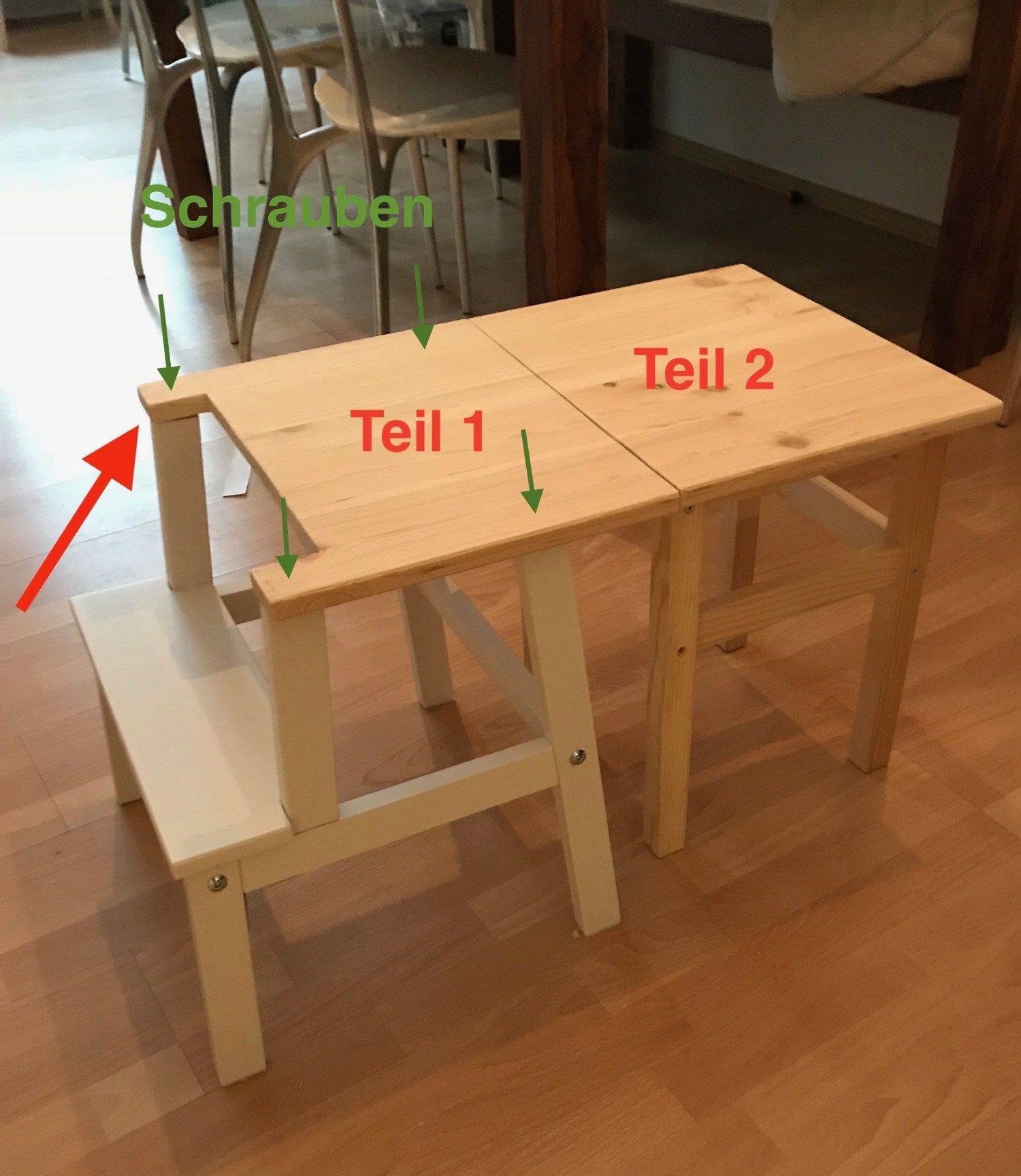 Good Pics Learning tower and children's table in one – an Ikea hack  Ideas   An …