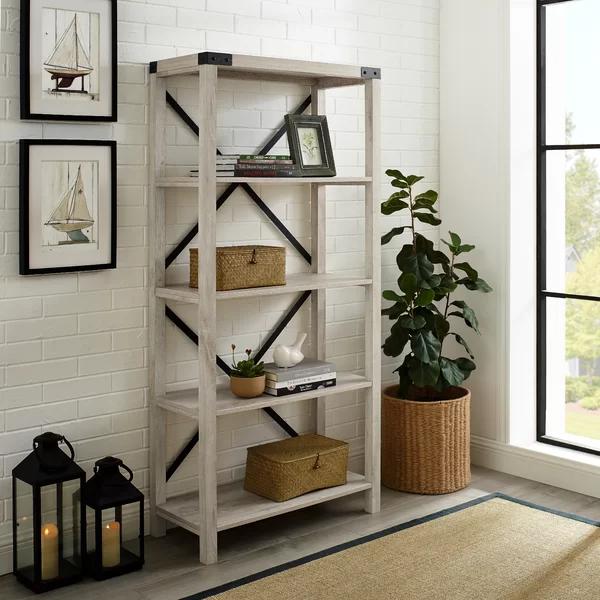 Gracie Oaks Schreiner Etagere Bookcase | Wayfair