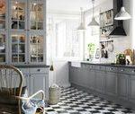 Graue-Einbauküche-im-Landhausstil-Landhaus-Küche-Deko.jpg (1...- Graue-Einbauk...