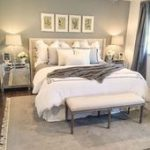 Gray and white Master Bedroom elegant neutral bedroom white bedroom  #bedroom