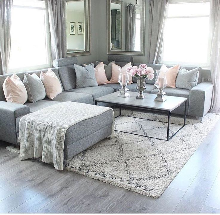 Gray couch – black and white coffee table – baskets underneath – black … – #ba…
