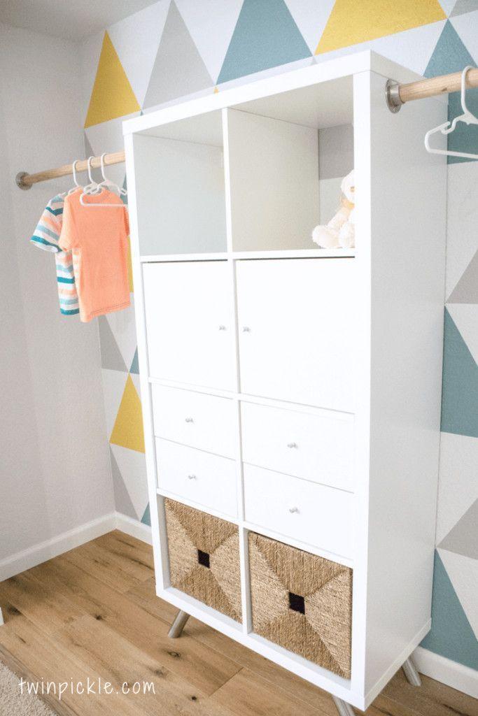 Great Pic Twin boys' custom closet – an IKEA KALLAX hack  Style   The IKEA K…