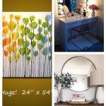 Große Wandkunst / ORIGINAL Regenbogenblumen Malerei / abstrakte Malerei Blumen ...