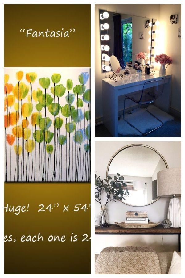 Große Wandkunst / ORIGINAL Regenbogenblumen Malerei / abstrakte Malerei Blumen …