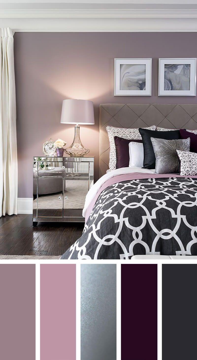 Guest Room – Elegant Silver, Plum and Lavender Palette