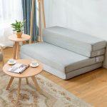 Gymax 4'' Full XL Size Foam Folding Mattress Sofa Bed Guests Floor Mat Carrying Handles - Walmart.com