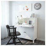 HEMNES Bureau - white stain - IKEA