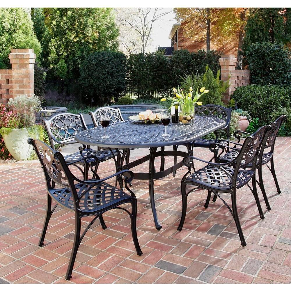 HOMESTYLES Biscayne Bronze 7-Piece Patio Dining Set-5555-338 – The Home Depot
