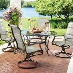 Hampton Bay Statesville 5-Piece Padded Sling Patio Dining Set with 53 in. Glass Top-FCS70357CS-ST - The Home Depot