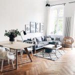 Hand tufted rug Naima- Livingroom Goals! High ceilings, a beautiful parquet floo...