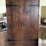 HandMade Chunky Rustic Reclaimed Wood Plank Double Wardrobe Warm Oak Finish in H...