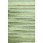 Handgefertigter Kelim-Teppich Deason aus Wolle in Lindgrün