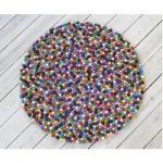 Handgefertigter Teppich Fremont aus Wolle in Rot/GrünWayfair.de
