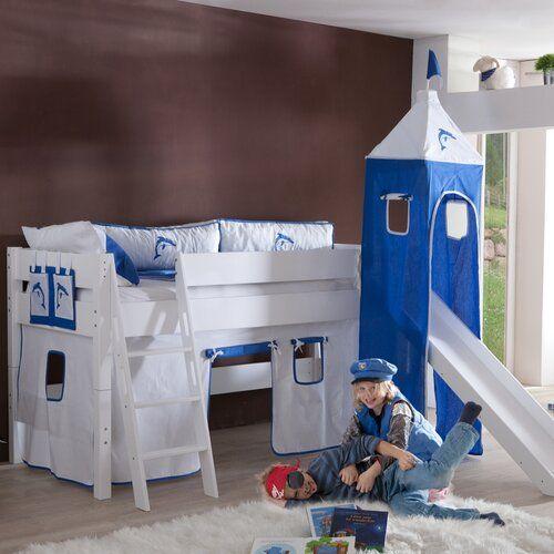 Harriet Bee Tess European Single Mid Sleeper Bed with Tower | Wayfair.co.uk
