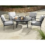 Hartman Jamie Oliver Fire Pit Set Riven With Pewter Silver Cushions - (68776031)