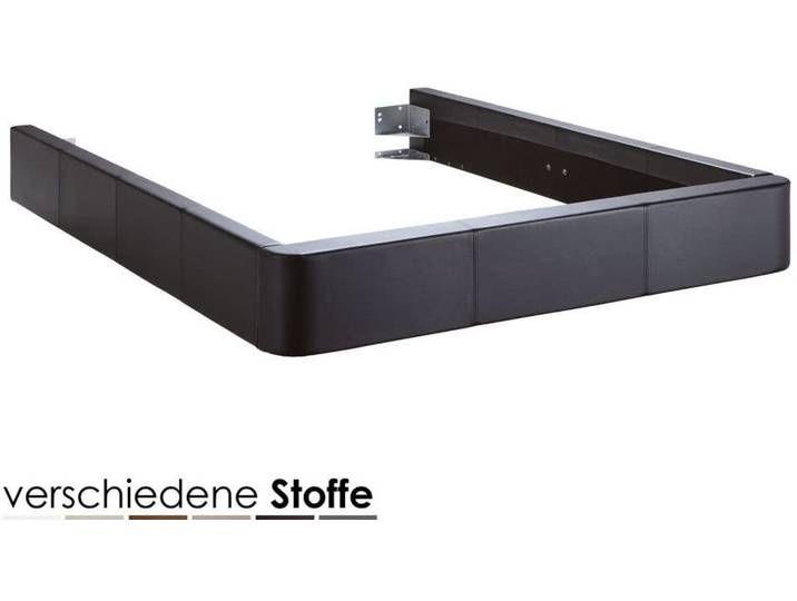 Hasena Dream-Line Bettrahmen Rondo 180×200 cm / PK4 Echtleder 509 arde