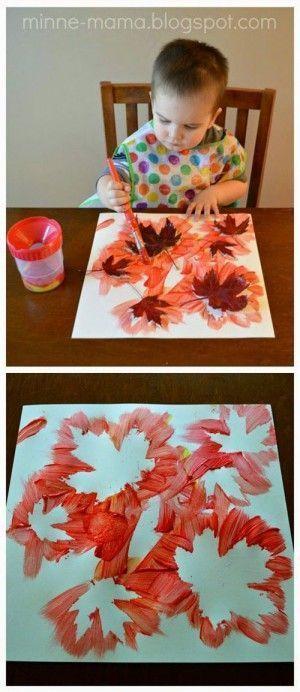 Herbst Basteln für Kinder – Herbstblatt Malen – #Basteln #für #herbst #Herbstb… – Painting Ideas
