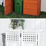 Hide your unsightly trash cans behind lattice, or build/buy a storage shed for t...